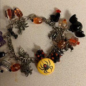 Custom made Halloween bracelet of bats/spiders/